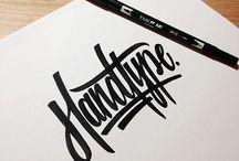 Typography & Lettering / Tipografia industrial, letering manuscrito. Los artistas tipograficos tienen un heco aqui