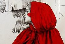 """Red & Black / """"If there is a beast in men, it meets its match in women."""" ~ The Company of Wolves"""