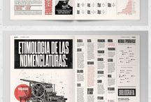 Layouts & Brochures / Design references. Guides to work and take inspiration.