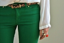 Outfits - navy, turquoise & green