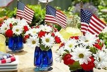 Red, White, and Blue / Everything you need for the 4th of July or Memorial Day. From food to decoration ideas.