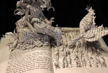 Art - Book sculptures / Judge a book by its cover