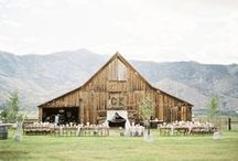 BARN WEDDING. / The classic beat-up barn | Expect rustic wooden shacks adorned for your ceremony, your reception + your after party | Because what happens in the barn stays in the barn