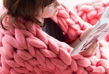 Blankets / Chunky knit Merino wool blankets