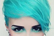 Unicorns & Mermaids / Vivid hair colors, blue hair, purple hair, pink hair, green hair, teal hair, orange hair, yellow hair - you name it! We love unicorn hair and mermaid hair. This is the board where we put our creative color inspo.