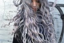 Metallics / Silver hair, rose gold hair, copper hair, pewter hair, and all other metallic shades of hair color.