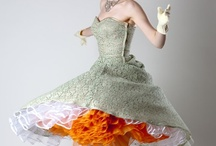 vintage party dresses / full skirts, chiffon, tulle and loveliness!!