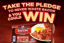 #NeverWasteBacon  / We think you should Never Waste Bacon and so we created new Maple Leaf Bacon Portions.  With 2 stay fresh packages you can enjoy fresh bacon all the time.