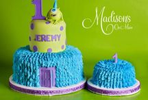 Jett's 1st bday party- Monsters Inc. Theme  / by Courtney Rogers