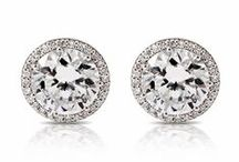 Diamond Earrings. / A story board and actual photos of our inventory for diamond earrings at La Bijouterie.
