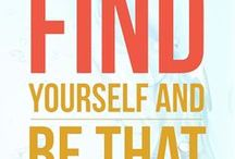 Quote me / Find yourself and be that. Inspiration for graphic designers, solopreneurs and creative entrepreneurs.