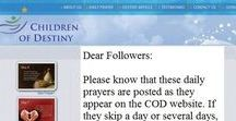 Autism Prayers / These special prayers are from the 'Children of Destiny' website and they are posted daily specifically for autistic children and their families. It is the only site of its kind that offers support for the autism community through the power of prayer. Click on the image to read the prayer in its entirety and call the names of those you are praying for in the blank spaces. Remember, do not lean to your own understanding and trust in God. He knows best and He has a plan for every child!