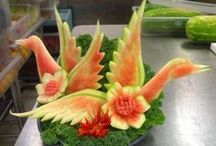 Wonders w/ Watermelon / Beautiful culinary art, carvings, sculptures, and other creations made from watermelons!