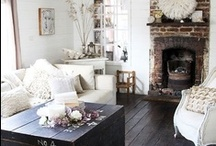Decorating with dark floors / I used to love the dark and modern look, but now I'm really digging the light and white look. So I need awesome ideas how to decorate my house without ripping out my floors !