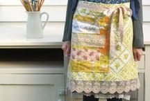 Aprons {style & inspiration} / Anthropologie Style beautiful aprons!  I love ruffles and pleats on an apron.  Designer aprons are for me! / by Rebekah Gumz
