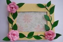 Handmade Photoframe Ideas / DIY Photoframe ideas and  tutorials to make handmade photoframes and embellishments for your frames / by Dr Sonia S V