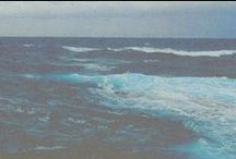 Ocean | Water / The big blue sea and raindrops
