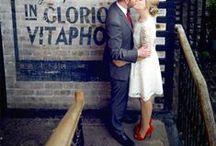 Inspiration Mariage rétro chic avec une touche de rouge! / #mariageretro #rouge