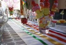 Parties - baptême - rainbow / by Liz-Ln Comdeuxfilles