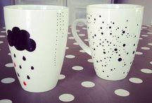 Déco de table - DIY Mug personnalisé / by Liz-Ln Comdeuxfilles