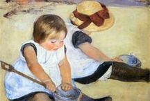 Mary Cassatt (1844-1926) / Mary Stevenson Cassatt (1844-1926) was an American painter and printmaker. She lived much of her adult life in France where she befriended Edgar Degas and later exhibited among the Impressionists. Cassatt often created images of the social and private lives of women, with particular emphasis on the bond between mothers and children.