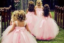 Flower Girls & Basket Ideas / If you have a little girl in the family or a close friend with little ones, consider asking them to play a special part in your wedding by being your flower girl!  Most little girls love to dress up and will be excited to be a princess for a day!  You can give them a basket of flower petals to toss, a wreath to carry, or another unique piece like a lantern or nest to coordinate with your wedding theme.  Enjoy this board full of ideas from dresses to hair styles to basket alternatives!