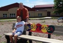Buddy Bench News / News stories about Buddy Benches from all over, focusing on benches that have been manufactured by Polly Products.  #BuddyBench