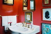 Powder Rooms / Bathroom inspiration and decor.