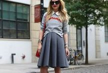 Sweatshirts and Skirts