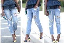 Boyfriend Jeans / How to style a new closet staple the #boyfriendjean #destroyed denim.