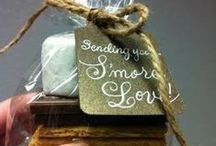 S'mores Wedding Ideas / Wedding Celebration Ideas featuring S'mores! Favors, desserts and more!