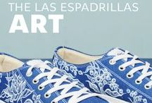 THE LAS ESPADRILLAS ART / We are always looking for new  inspiration and working to  improve our brand, try to  cooperate with artists and  designers to make the original shoes for you and your loved ones. Las Espadrillas always keeps up with the times, so in the production process we use only quality materials and combine them with the latest  developments, so that everyone could choose its original footwear that will bring pleasure during each step.