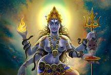 MahaKali / Dedicated to the great manifestation of Shakti, the fierce and dark mother and deity.