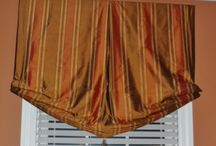 Window Treatments / Various windows that we have created for clients.