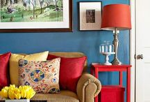Cool color combinations for decorating / As an interior designer, I often push the limit and use unconventional color pallettes in rooms. Tip: Take your favorite color and work around it--find your own combo.