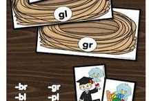 Phonics/ Word Study / Teach phonics with these activities, printeables, and games that will make learning these important skills fun! Work on phonics, CVC words, rhyming, and more.