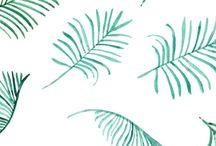 Patronen / Wij zijn dol op patronen. Vooral de botanische trend passen ook wij toe op de geboortekaartjes en trouwkaarten