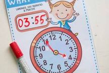 Telling Time / Get great ideas for teaching about time. Games, activities, and word problems to help students learn telling time to the hour, half-hour, and to the minute.