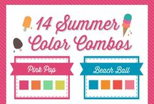 Love that Color Combo / Color combos, crafts, scrapbooking, card making, paper crafting