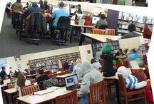 """Busy Library / The Abington Township Public Library was bustling with activity in the immediate aftermath of Hurricane Sandy. The Library's power was restored on Wednesday afternoon and the building was immediately opened to serve local residents. The Library served as a """"community living room"""" for those residents still without power at home. Patrons hurried in to use both the library's computers and their own laptops to check email and bring themselves up-to-date on local and world events...."""