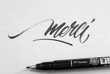 Calligraphie / Écriture Style graphique Anglaise