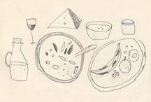 food drawings
