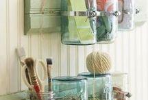 DIY : Bouteilles/Bottles et Bocaux/Jars / DIY avec des bouteilles en verre / plastique et des bocaux ...