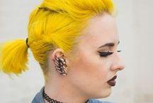Bright Hair Inspiration / Your #1 spot for colored hair ideas! Purple hair, blue hair, yellow hair, green hair, rainbow hair.....we've got it!