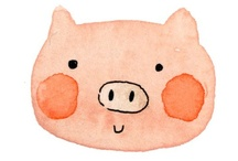 PIGS -  ILLUSTRATION / by Syllabubble
