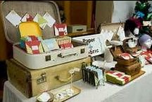 Craft fair booth / Craft fair and holiday bazaar display ideas.  Easy to make sellable items at low/free cost!