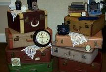 Suitcases - Trunks - Crates @ Southern Jeweled Vintage Rentals / A million different ways to use these! SJ has a huge inventory available for rent!