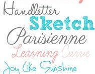 Wedding Fonts / Typefaces / Font ideas for the stationery element of your big day!
