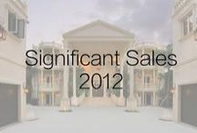 Significant Sales 2012