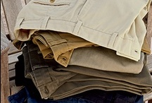 Bills Khakis / Cut & Sewn in the U.S.A. Bills Khakis makes men's apparel that is built to last; these are your father's khakis.  Superior jeans, khakis, and casual pants in an abundance of styles, fits and fabrics.